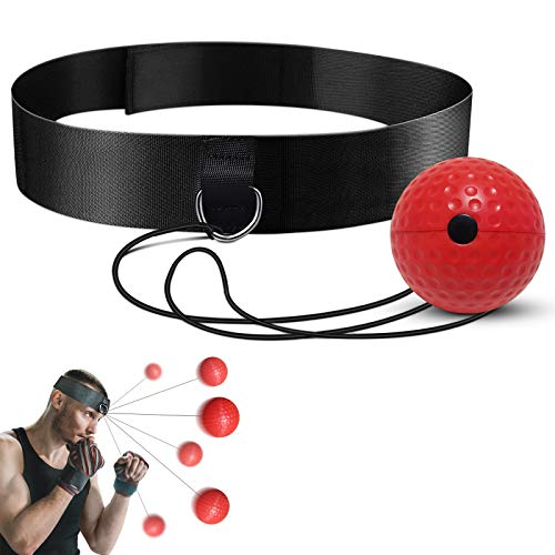 LONEA Balón de entrenamiento de boxeo, bola de entrenamiento reflectante, adecuado para...