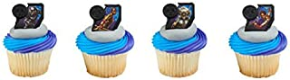 24 Marvel Black Panther Streets of Wakanda Cupcake Rings Party Supplies