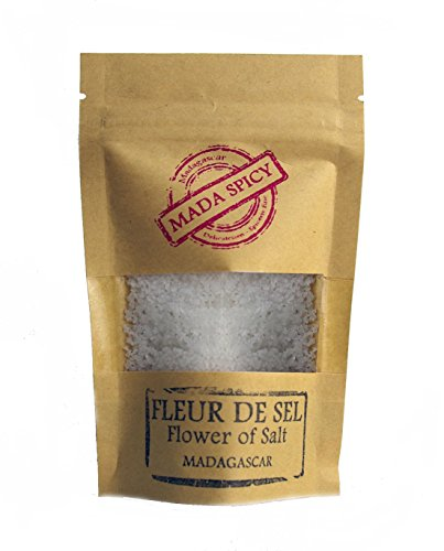 """Flor de sal 200g de Madagascar """" Gourmet Calidad """". Bolsita eco cierre zip."""