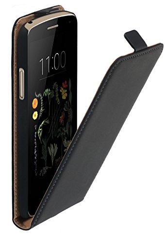 yayago Flip Hülle für LG K5 Tasche Schwarz