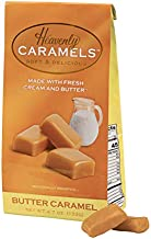 J Morgan Confections Heavenly Caramels, Butter Flavor (4.7 oz bag); Gourmet, Artisan Soft and Chewy Butter Caramel Candies, Creamy and Smooth, Hand-Crafted Golden Treats