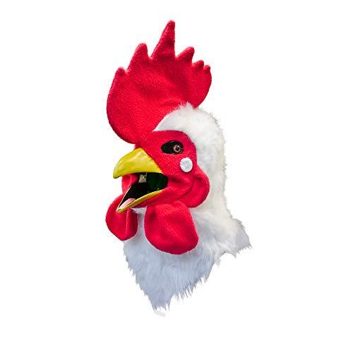 口が連動しリアルに動く!なりきりアニマルムービングマスク!【cock/ニワトリ】あなたも 超ヒューマンな動物キャラに大変身!