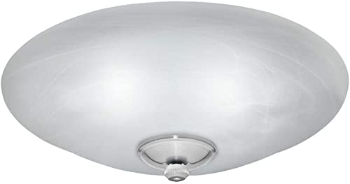 Casablanca Fans 99258 Accessory - Three Light Low Profile Bowl Kit, Brushed Nickel Finish with Swirled Marble Glass