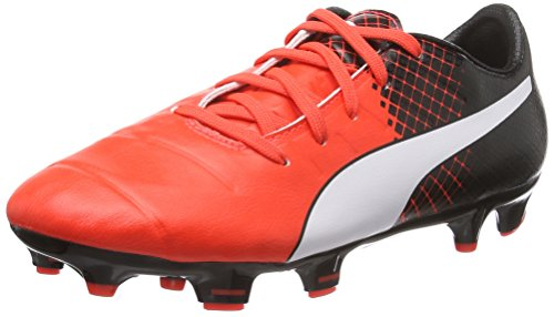 Puma Unisex-Kinder EvoPower 1.3 Tricks FG Jr Fußballschuhe, Rot (Red Blast White Black 03), 34 EU