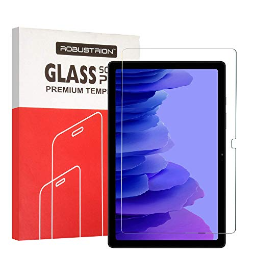 Robustrion [Anti-Scratch] & [Smudge Proof] [Bubble Free] Premium Tempered Glass Screen Protector for Samsung Tab A7 10.4 inch 2020 [SM-T500/T505/T507]
