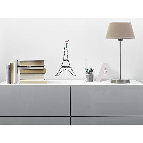 Draeger - Sticker Mural - Sticker Paris pour décorer facilement votre intérieur - Adhésif Déco sérigraphié sur film polyester - L19 x H32 cm Tour Eiffel
