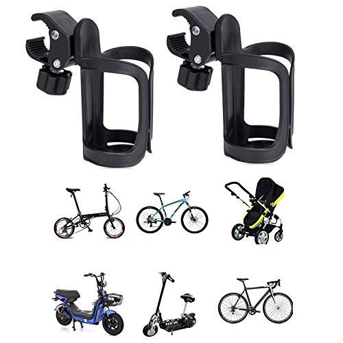 2 Piezas Portabotellas Bicicleta Black Bicycle Baby, Portavasos Universal Cochecito Cochecito Cup, Portavasos Cochecito Cochecito Universal, Portavasos para Bicicleta Biberón para Cochecito de Bebé