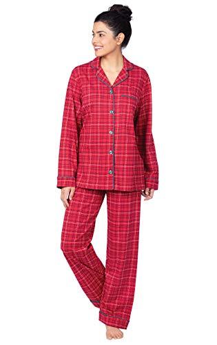 PajamaGram 100% Cotton Pajamas Women - Women Pajamas Set,...