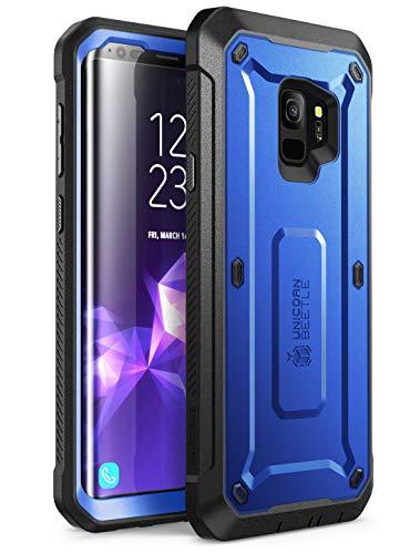 Samsung Galaxy S9 Hülle, SUPCASE [Unicorn Beetle PRO] 360 Grad Handyhülle Robuste Schutzhülle Outdoor Case Sturzfest Cover mit integriertem Displayschutz und Gürteltasche (Dunkelblau)