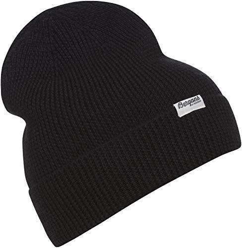 Bergans Allround Beanie Schwarz, Merino Kopfbedeckung, Größe One Size - Farbe Black