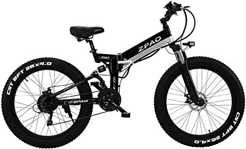 Read About IMBM 26 500W Folding Electric Bike, 4.0 Fat Tire Mountain Bike, Handlebar Adjustable, LC...