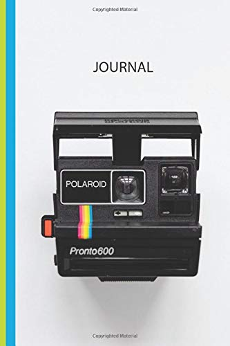 Retro Polaroid Jounral: Lined Interior Pages