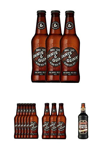 Innis & Gunn Blood Red Sky Rum Finish Bier 9 x 0,33 Liter + Fuller`s London Porter Bier 0,5 Liter