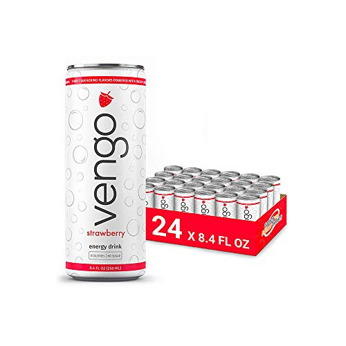 Vengo Energy - Strawberry Flavor - 8.4oz - 24 Pack Energy Drinks