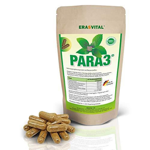 PARA3 I 270 Kapseln = 176 g I Papaya-Kerne I Moringa Samen I Tai-Basilikum Extrakt I MSM I Bacillus Subtilis