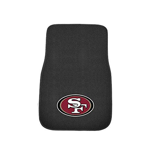 FANMATS 17120 NFL San Francisco 49ers 2-Piece Embroidered Car Mat