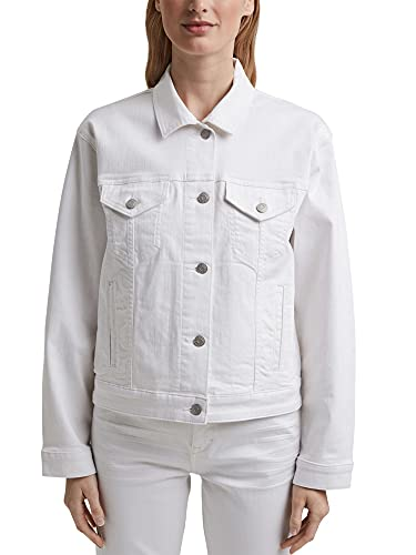 Esprit 041EE1G301 Blazer, 100/White, L para Mujer