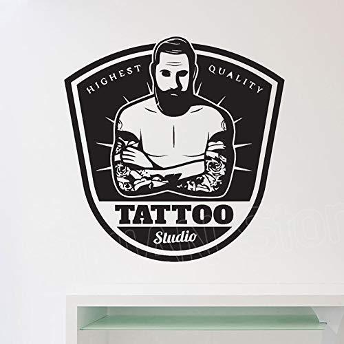 Winkel Raam Sticker Tattoo Salon Muursticker Decoratie Verwijderbare Moderne Studio Werkruimte Wanddecoratie Decals Vinyl Art 57 * 58cm