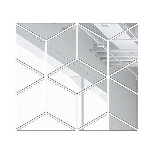 Hojas De Espejo Flexibles Espejo Etiqueta De Pared Cubo Fondo Mosaico Pared Pared Pared Auto Adhesivo Acrílico Espejo Espejo Hoja para La Escuela Decoración del Hogar(Size:Metro)