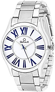 Omax Formal Mens White Dial Watch TS540– Japanese Movement Solid Stainless Steel Case Water Resistant– Perfect for Busines...