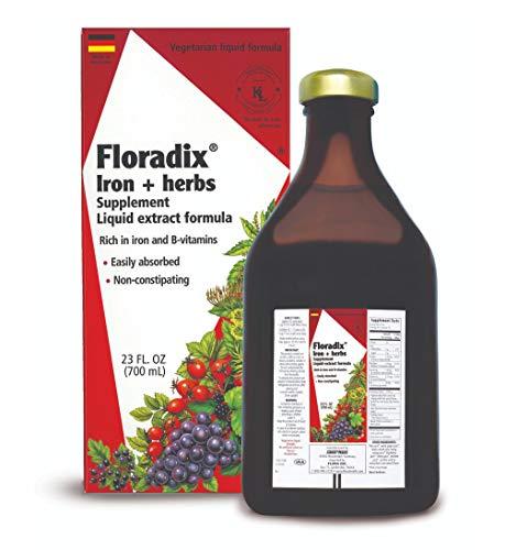FLORA dix Liquid Iron + Herbs Supplement 23 oz EXTRA LARGE - All Natural, Vegetarian, Vitamin C - for Women & Men, 64950