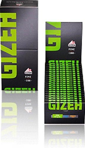 Gizeh 411110035 Black Fine Magnet - Kurzes Papier, 20 x 100 Blättchen, Flachshanf