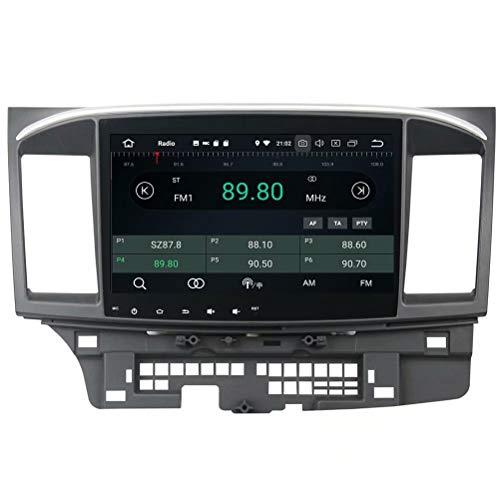 ROADYAKO 2Din Android 8.0 pour Mitsubishi Lancer 2015 2016 2017 Autoradio Stéréo avec Navigation GPS 3G WiFi Lien Miroir RDS FM AM Bluetooth AUX Multimédia Audio Vidéo