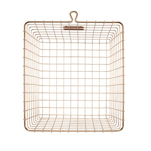 Spectrum Diversified Wire Storage Basket (6 Pack), Medium Copper