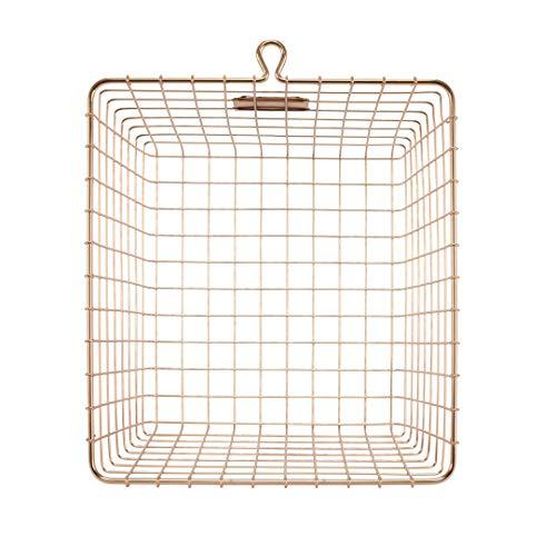 Spectrum Diversified Wire Storage Basket (6 Pack), Medium Copper