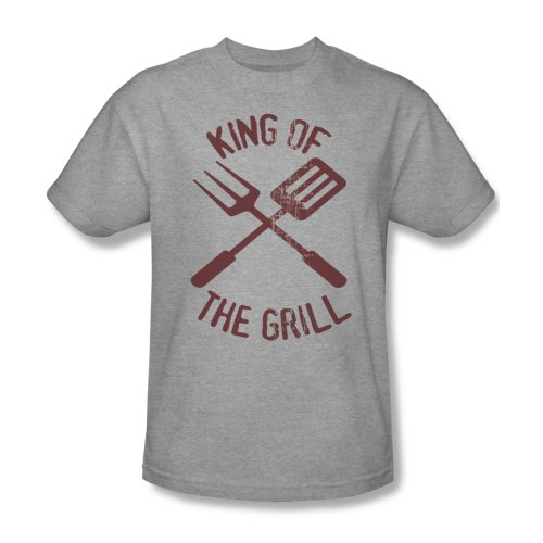 King Of The Grill - Männer T-Shirt In Heather, XXX-Large, Heather