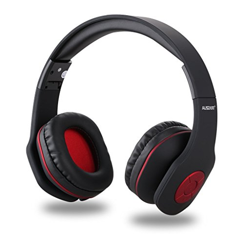 AUSDOM AH862 Wireless Bluetooth Headphones Over Ear Headset with Microphone Foldable LightweightSoft Earmuffs WirelessampWired Mode for PC/Cell Phones/TV