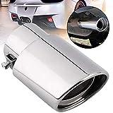 MIOAHD Accesorios para Coche Tubo de Escape Redondo de Acero Inoxidable de Escape Ruidoso Punta de silenciador de Cola, para Ford Mustang