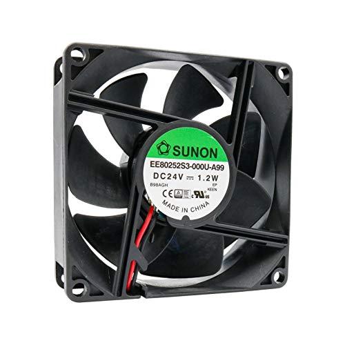 32F ventilator 80 mm 80 x 80 x 25 SUNON MagLev EE80252S3-000U-A99 24 V DC 0,05A 1,2 W Air Fan 8 cm 2 draden (+/-) koeling