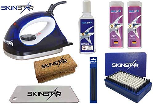Skinstar skiwax startset 7-delig met wax strijkijzer alpine + dekbed + plank