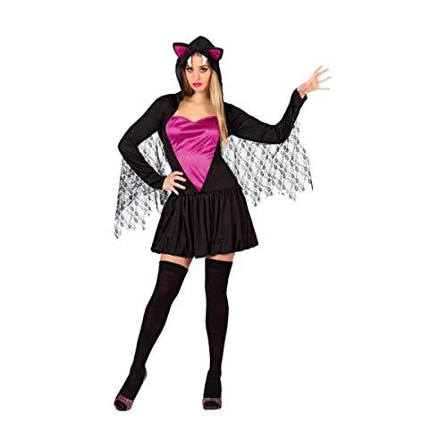 Cisne 2013, S.L. Disfraz para Halloween de Mujer Murcielago Negro y Morado Talla M-L Talla Unica Adulto. Cosplay Halloween Murciélago Mujer.