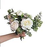 JINLIAN205-SHOP decoración hogar Estilo Moderno Simulación Bouquet Sala de Estar Decoración de Flores Falsas Creativa Artesanía de Escritorio Decoración Flores secas (Color : C)