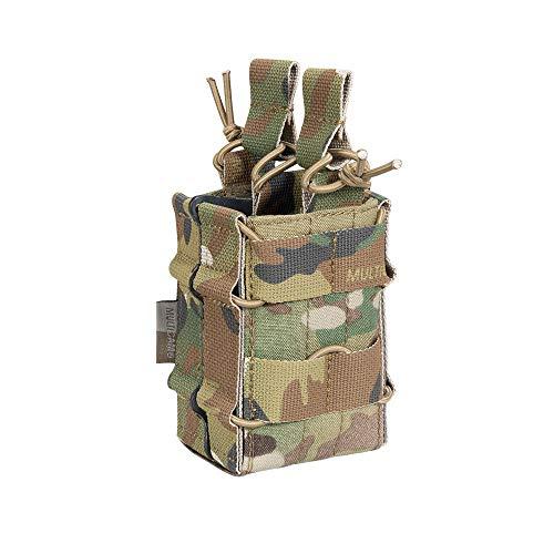 EXCELLENT ELITE SPANKER Tactical Molle Single/Double Open-Top Mag Pouch for M4 M14 M16 AR15 G36 Magazine (B Double-Multicam)