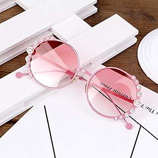 XKMY - XKMY Gafas de sol redondas para niños, de metal, para niños, niñas, niñas, lindas, gafas de sol de moda, UV400 (color de la lente: rosa)