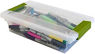Sterilite Small File Clip Box Clear Storage Tote Container with Lid (18 Pack)