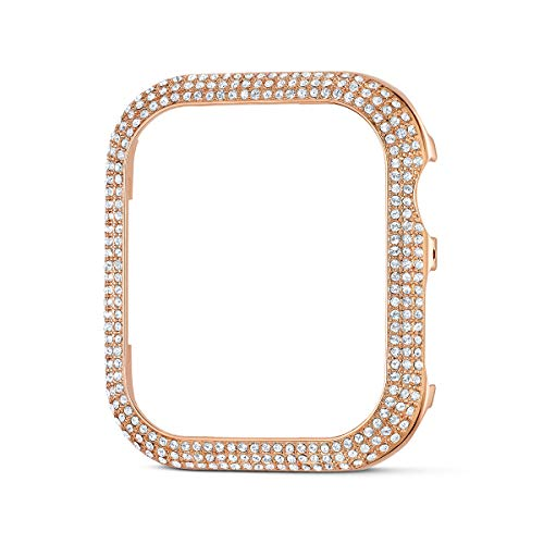 Swarovski Sparkling Smartwatch Case, White Swarovski Crystals with Rose-gold Tone, 40mm Watch Case, Compatible with Apple Watch Series 4 and 5
