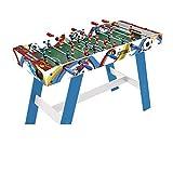 Sunsport - Futbolín para niños Soccer Match, futbolín con sólida estructura de madera, barras telescópicas, orificio para lanzapalinas y 2 bolas. Juegos para niños, juguetes. 118 x 51 x 81 cm.