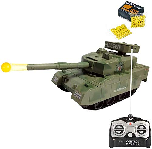 Liberty Imports RC Power BB Tank Radio Remote Control Military Battle Tank That Shoots Airsoft Bullets (Desert Dream)