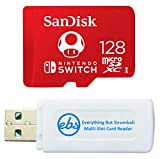 SanDisk 128GB Nintendo Switch Micro SD Card/Switch Lite Memory Card 128 GB High Speed (SDSQXAO-128G-GNCZN) Bundle with 1 TF/MicroSDXC Card Reader