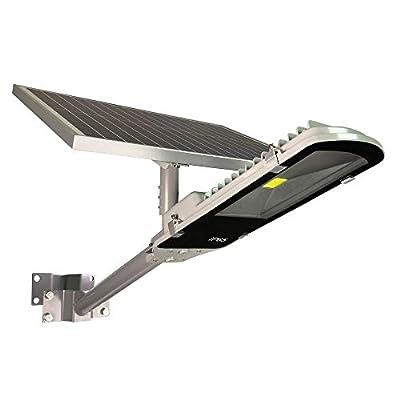 TIN Sum 20W LED Solar Street Light,3000LM 6500K Solar Powered Pole Light,IP65 Waterproof Security Area Night Lighting for Gutter Patio Garden Path Stadium Parking Lot Roadways