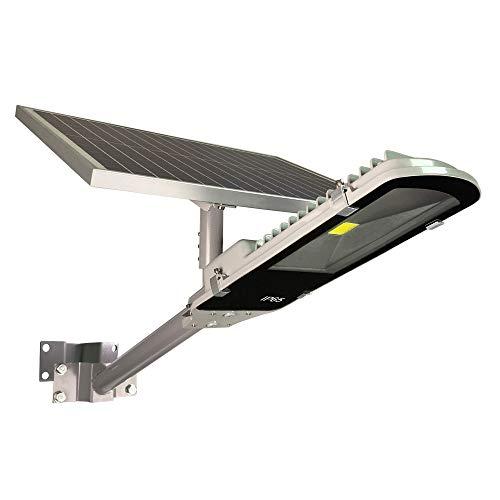 TIN Sum 150W LED Solar Street Light,15000LM 6500K Solar Powered Pole Light,IP65 Waterproof Security Area Night Lighting for Gutter Patio Garden Path Stadium Parking Lot Roadways