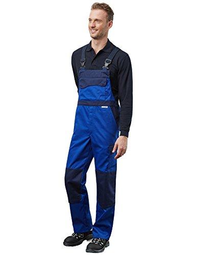 Pionier 3040-50 Latzhose Color Wave Größe 50 in kornblau/marineblau