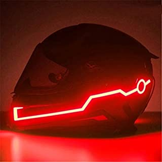EASY4BUY® 2Pcs LED Light Motorcycle Helmet Kit Helmets Night Riding Signal Flashing Stripe Bar Sticker Red