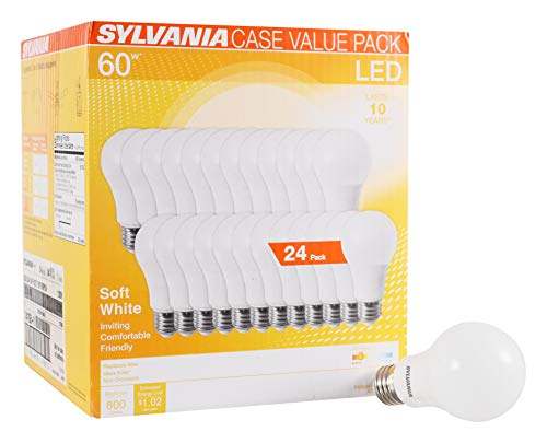 24-pack SYLVANIA A19 60W Equivalent LED Light Bulbs  $17 at Amazon