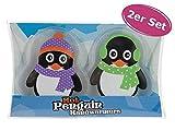 itsisa Taschenwärmer Pinguin, 2er Set - Wichtelgeschenk, Handwärmer,...