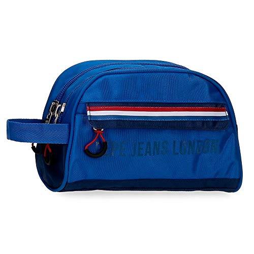 Neceser Doble Compartimento Adaptable Pepe Jeans Overlap, 26x16x12 cm, Azul